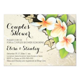 Vintager Plumeria, Hochzeits-Paardusche des Efeus 12,7 X 17,8 Cm Einladungskarte