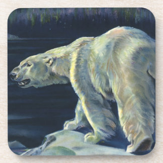 Vintager polarer Bär, arktische Marinelebens-Tiere Getränkeuntersetzer