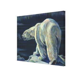 Vintager polarer Bär, arktische Marinelebens-Tiere Leinwanddruck