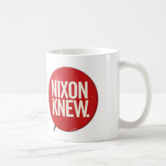Vintager politischer Richard- Nixonknopf Nixon Kaffeetasse