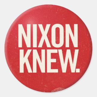 Vintager politischer Richard- Nixonknopf Nixon Runder Aufkleber