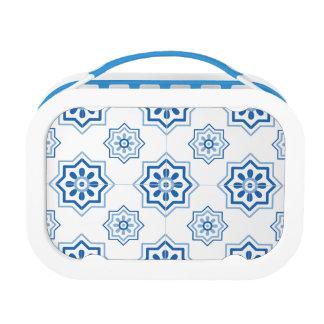 Vintager Portugiese Azulejo BLAUES Fliesen-Muster Brotdose