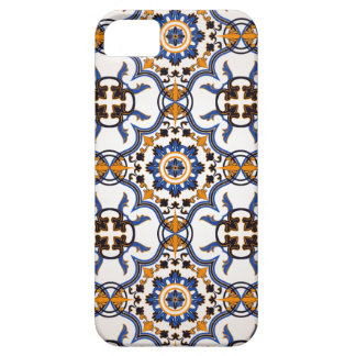 Vintager Portugiese Azulejo blaues gelbes Muster iPhone 5 Etui