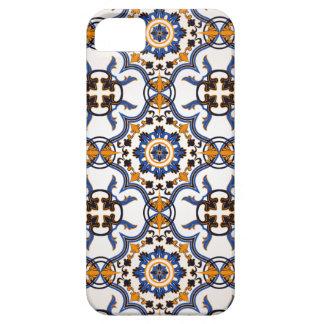 Vintager Portugiese Azulejo blaues gelbes Muster iPhone 5 Schutzhülle