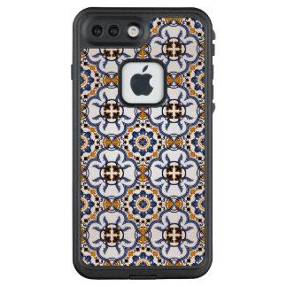 Vintager Portugiese Azulejo blaues gelbes Muster LifeProof FRÄ' iPhone 8 Plus/7 Plus Hülle