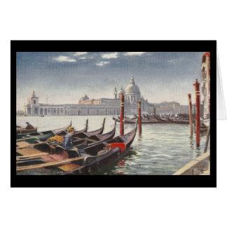 Vintager Postkarten-Eingang zum großartigen Kanal Karte