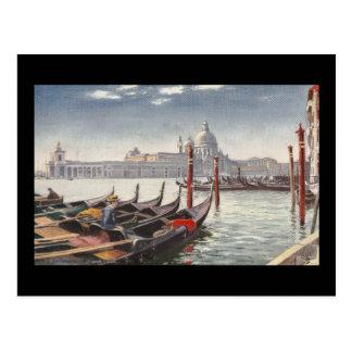 Vintager Postkarten-Eingang zum großartigen Kanal Postkarte