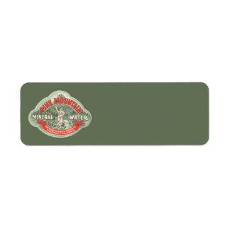 Vintager Produkt-Aufkleber,