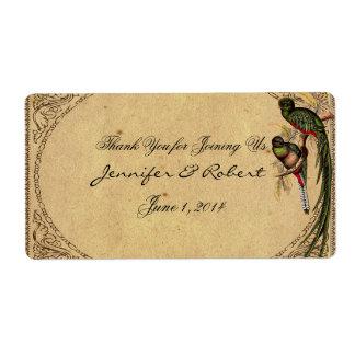 Vintager Quetzal-Vogel-eleganter