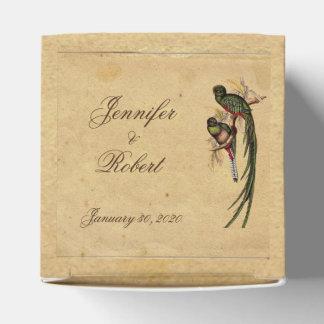 Vintager Quetzal-Vogel-Gastgeschenk Geschenkschachtel