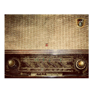 Vintager Radio Postkarte