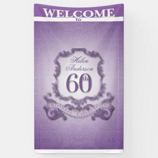 Vintager Rahmen 60. Geburtstags-Feier Fahne Banner
