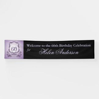 Vintager Rahmen-60. Geburtstags-personalisierte Banner