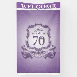 Vintager Rahmen 70. Geburtstags-Feier Fahne Banner