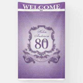 Vintager Rahmen 80. Geburtstags-Feier Fahne Banner