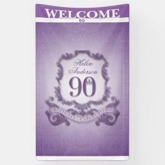Vintager Rahmen 90. Geburtstags-Feier Fahne Banner