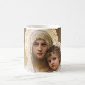 Vintager Realismus, Madonna der Rosen, Bouguereau Kaffeetasse