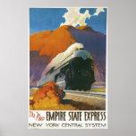 Vintager Reich-Staats-sich fortbewegender ausdrück Posterdrucke