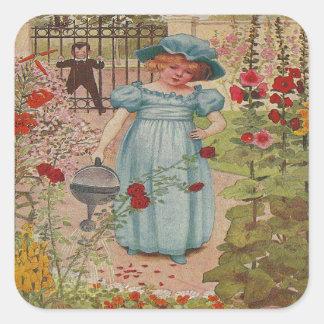 Vintager Reim Marys Mary Quadratischer Aufkleber