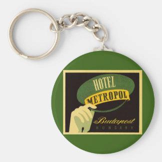 Vintager Reise-Budapest Ungarn Bellhop-Hut Schlüsselanhänger