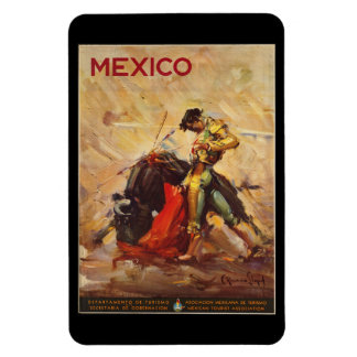 Vintager Reise-Mexiko Stier Fighting Matador Magnet