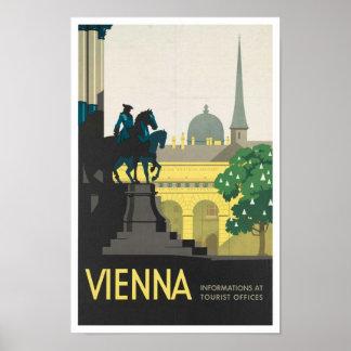 Vintager Reise-Plakat-Druck nach Wien