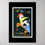 Vintager Reise-Plakat-Karneval Kuba Havana