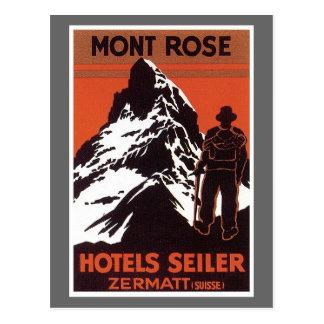 Vintager Reise Zermatt die Schweiz Hotel-Aufkleber Postkarte