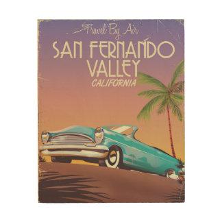 Vintager Reiseposten San Fernando Valley Holzleinwand