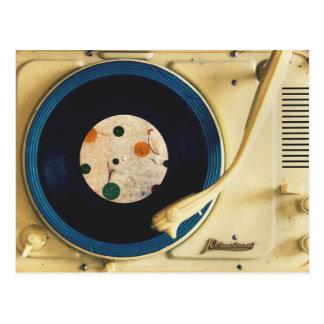 Vintager Rekordspieler Postkarte