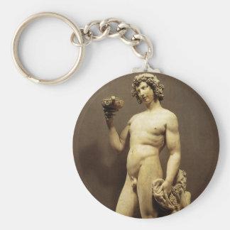 Vintager Renaissance-StatueBacchus durch Schlüsselanhänger