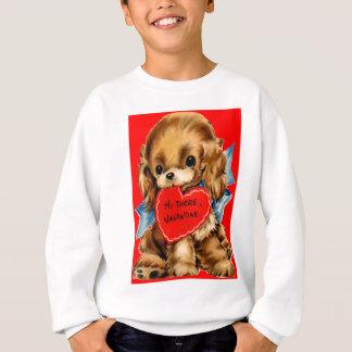 Vintager Retro Cockerspaniel-WelpeValentine Sweatshirt