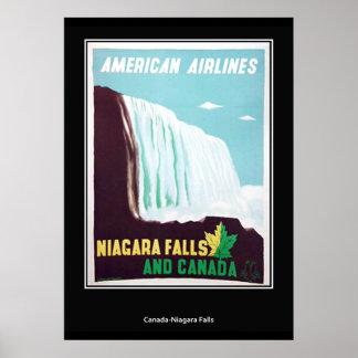 Vintager Retro Druck Niagara Falls Poster