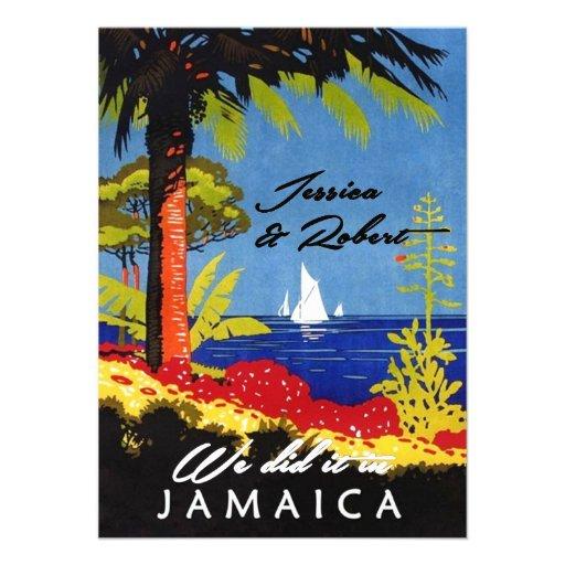 Vintager Retro exotischer Insel-Jamaika-Empfang Ankündigungen