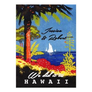 Vintager Retro exotischer Insel-Strand-Empfang Individuelle Ankündigungskarte