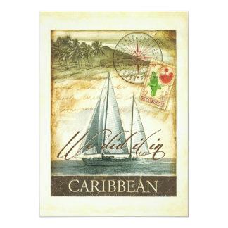 Vintager Retro karibischer Cayman- IslandsEmpfang 11,4 X 15,9 Cm Einladungskarte