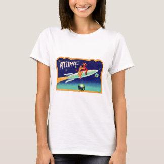 Vintager Retro Kitsch-50er Atomraketen zum Stern T-Shirt