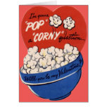 Vintager Retro PopcornValentine Grußkarten