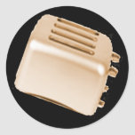 Vintager Retro Toaster-Entwurf - Orange Runder Aufkleber