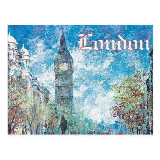 Vintager retro Tourismus Big Ben Londons England Postkarte