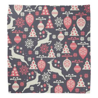 Vintager Retro Weihnachtsmuster-Feiertag Kopftuch