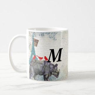 Vintager Rhino Kaffeetasse