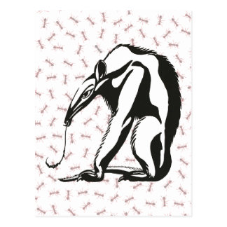Vintager riesiger Anteater durch Marcus Behmer Postkarte