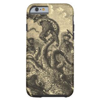 Vintager riesiger Tintenfisch-Seemonster-Fall Tough iPhone 6 Hülle