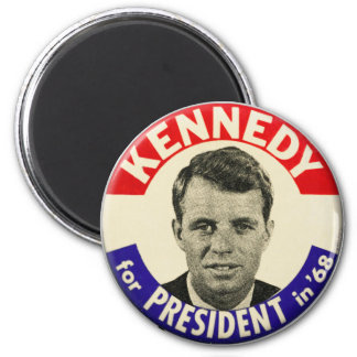 Vintager Robert Kennedy für Präsidenten Pin 1968 Runder Magnet 5,7 Cm