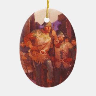 Vintager Robin Hood und seine fröhlichen Männer Keramik Ornament