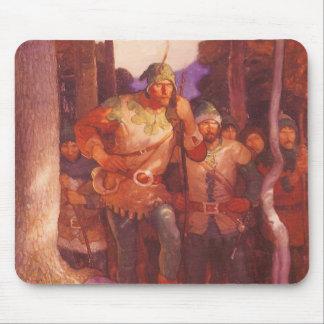 Vintager Robin Hood und seine fröhlichen Männer Mauspad