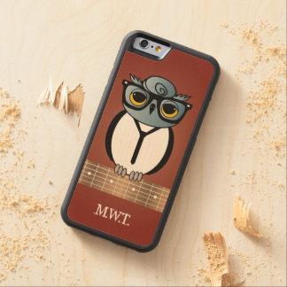 Vintager Rocker-Eule iPhone 6/6S Ahorn-Holz-Kasten Bumper iPhone 6 Hülle Ahorn