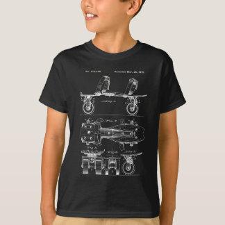Vintager Rollen-Skate-Patent-Entwurf T-Shirt