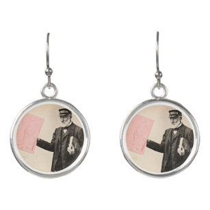 Vintager romantischer Briefträger Ohrringe